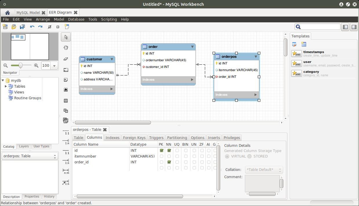 tool zum datenbankmodell erstellen f u00fcr mysql mysql workbench